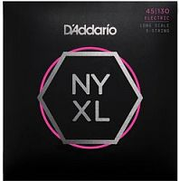 D`Addario NYXL45130  Струны для пятиструнной бас гитары Long, Light, 45-130