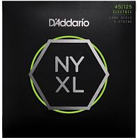 D`Addario NYXL45125  Струны для пятиструнной бас гитары Long, Light/ Medium, 45-125