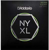 D`Addario NYXL45105  Струны для бас гитары Long, Light/ Medium, 45-105